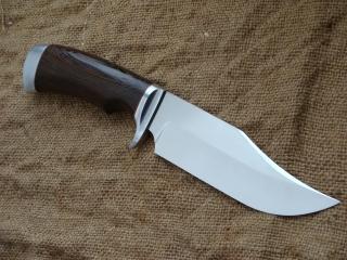 Нож Охотник-сталь 95Х18, дюраль, Фибра, венге.
