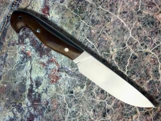 Нож Легионер-сталь Х12МФ, фибра, эбонит.