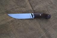 Нож Игла - сталь D2, нейзильбер, G10, корень ореха, мозаичные пины.