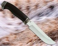 Нож Егерь 1 с литьём из мельхиора (Х12Ф1)